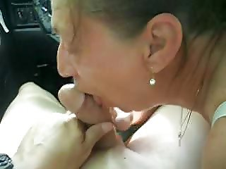Tender Blowjob in the Car