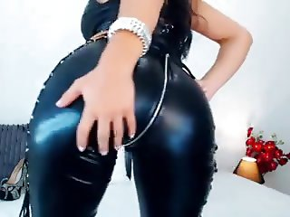 Hot Ass Milf Teases In  Sexy Catsuit