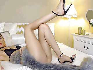 Hot Cam Girl with Amazing feet and High Heels Part 1