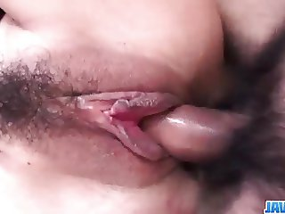 Hiromi feels extreme with a big dick up her wet fanny