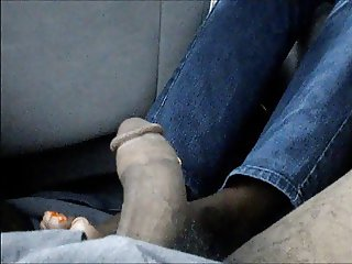 Orange Toenails FootJob