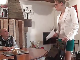 French teacher milf hard sodomized by her student