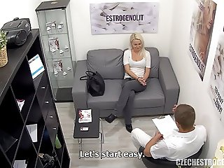 Busty Blonde Seduces Her Doctor