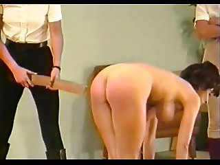 2 dommes spank & strap busty girl (Part 3)