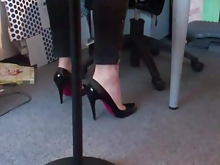 standing with her louboutin 2