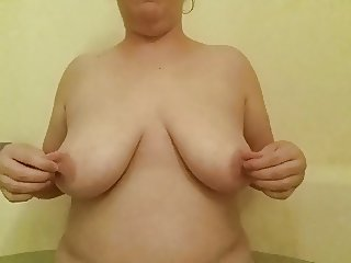 Titty Play with Tongue and Oil
