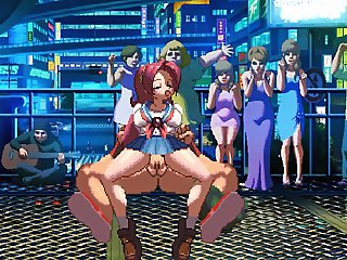 King of Fighters XIII hentai Kensou VS Athena