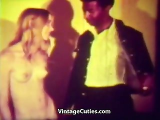 Black Deliveryman and Teen Babe (1960s Vintage)
