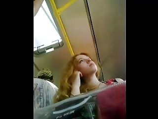 sexy redhead on train upskirt pt 2