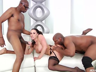 Kendra Lust hard interracial with two facials