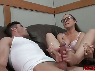 Worship Roxanne Rae's Feet For a Footjob FULL w Lance Hart