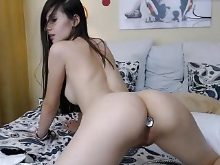 Young brunette fucking pussy vibrator hairy pussy nice ass