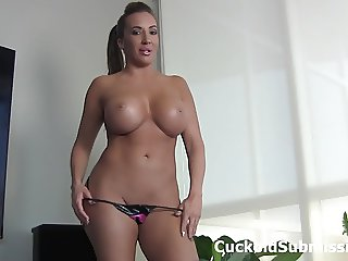Lick my man's cum out of my pussy