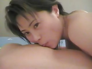Sexy young Chinese escort servicing old man