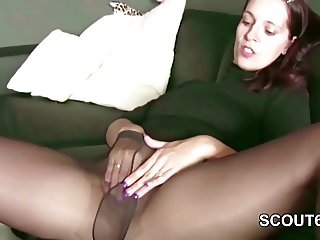 Real German Hooker in Nylon Fuck by Stranger for Money