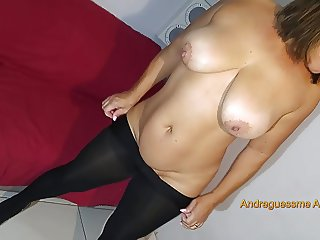 My wife in black pantyhose