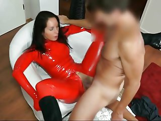 Fucked in red latex