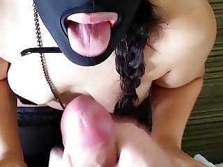 Slave wife begs for cum then swallows