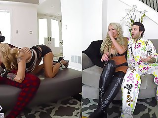 Two Busty Blondes Fucks You From Virtual Reality
