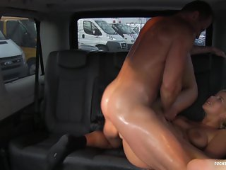 FuckedInTraffic - Blonde Czech Nikky getting fucked till she gets sweaty