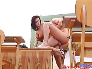 Hot teacher get fucked hard in classroom