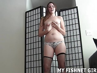 Rub your hard cock on my soft stockings JOI