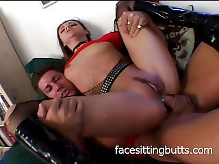 Hardcore slut getting both of her holes filled