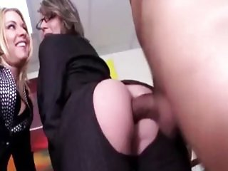 cfnm office sex blond