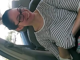 flashing in the car