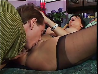 Mature chick seduces & bangs a big cock