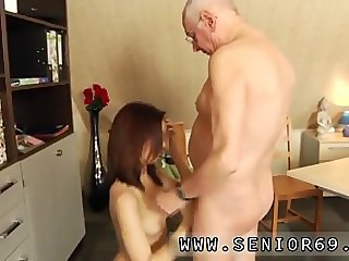 Japanese old man creampies young and milf