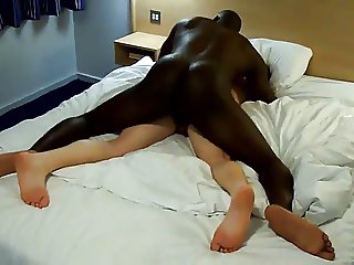 wife is fucked by a big black cock