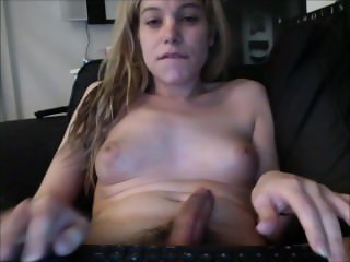 Adorable Young Shemale Teenager Jerks it
