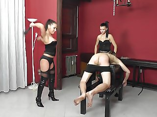 Two hot Latin Mistresses harsh Whipping