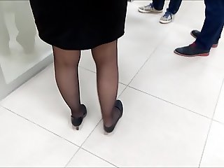Turkish Black Pantyhose Legs 2
