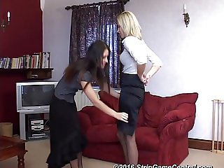 Jessie & Samantha play Strip Tickle
