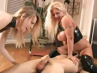 Two Mistress Beating  slavesBalls