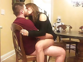 Sexy Milf Rides Lucky Guy in the Kitchen