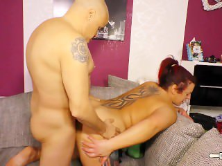 HausFrau Ficken - Chubby German housewife eats cum in naughty sex session