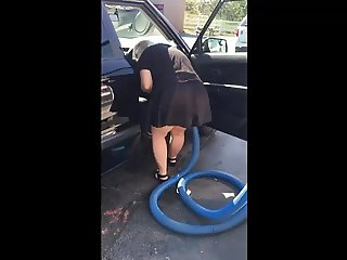 Flashing my ass at the car wash