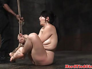 Analhooked fetish sub tiedup by black master