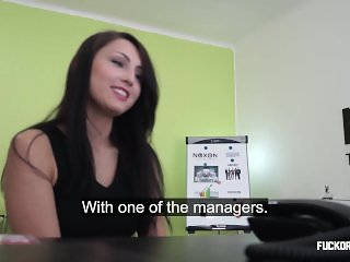 Barbara fucked for work!