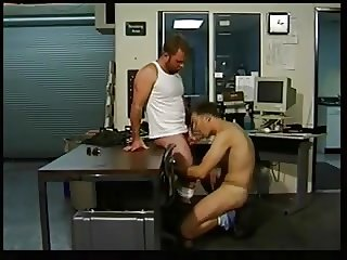 Experienced gay stud drills his buddy's ass