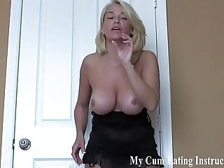 Save up your cum for a week so I can see you eat it all CEI