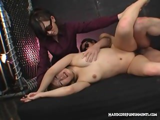 Sexy Oriental gets held down by Mistress and fucked by stiff cock