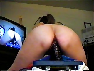 mature wife impaled on thick dildo