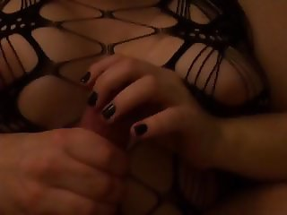 Wife playing with my cock