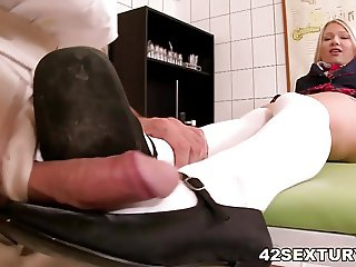Playing with my doctor's cock - Lucy Heart