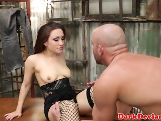 Deepthroated dominated babe pounded roughly
