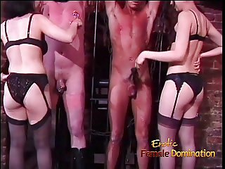 Two horny stallions film naughty scenes with two Oriental bo